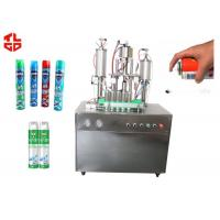Wholesale Auto Aerosol Can Filling Machine For Pesticide Insecticide , Aerosol Packaging Machine from china suppliers