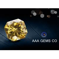 Wholesale Synthetic Round Yellow Colored Moissanite Fancy Cutting Shape from china suppliers