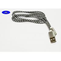 Wholesale Color Mixture Android Cell Phone USB Cable Black / White Nylon Braided from china suppliers