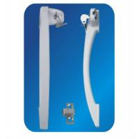 Wholesale White Gray Black Arc ABS Freezer Door Handle with lock 33 320mm OEM from china suppliers