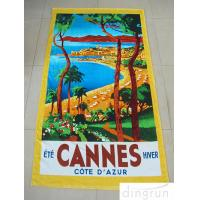 Wholesale Promotional Terry Custom Design Beach Towels Double Sided Colorful Printed from china suppliers