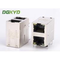 Wholesale 2x1 Double deck 10 Pin Rj45 Connector 1000base T TX cat6 rj45 magnetics connector from china suppliers