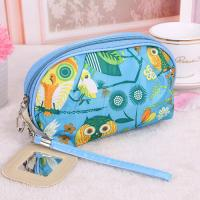 Medium Makeup Bag / Custom Cosmetic Bags With Zipper Flower Animal Printing