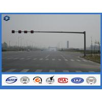 Wholesale Reaching Long Arm Traffic Steel light Pole 6000mm - 7500mm Mounting Height traffic sign pole from china suppliers