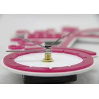 Quality Girls DIY Pink Sticker Wall Clocks Silent for Souvenir Gift , Bicycle Shaped for sale