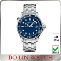 Buy cheap Dual Time Zone Fancy Wrist Watches For Men , Fantasy Watch Sport Blue Dial from wholesalers