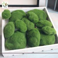 Wholesale UVG different size fuzzy artificial decorative moss balls fake rock for aquarium landscaping GRS039 from china suppliers