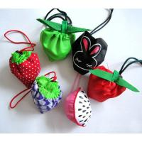Wholesale Fruit shaped drawstring shopping bag, nylon shopping bag, folding shopping bag from china suppliers