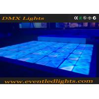 Wholesale Dj disco panel DMX  tile portable 3D toughened glass light up led dance floor panels from china suppliers