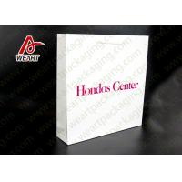 Wholesale White Card Paper Material Promotional Carrier Bags , Branded Promotional Products Bags from china suppliers