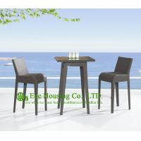 Wholesale Mordern Design Outdoor PE Rattan Bar Stools , Aluminum Frame Bar Stool For Sale from china suppliers
