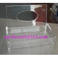 Wholesale Customized hand made high quality trasparent acrylic tissue boxes from china suppliers