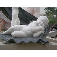 Quality Multi-color marble sculpture with 2 feet height, First grade white Jade marble sculpture for sale