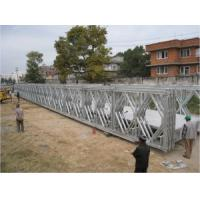 Wholesale Pins Connect Temporary Construction Bridge , Galvanized Steel Bridge For Prefabricated from china suppliers
