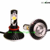 Wholesale H9 Auto Truck Head Lights Cree Chip LED FOG Headlight 6000K 24W 48W 4400LM 2200LM easy ins from china suppliers