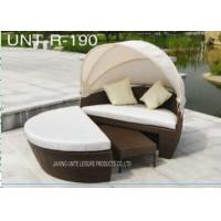 Wholesale All Weather Sunbed Outdoor Furniture With Canopy , Round Garden Daybed from china suppliers