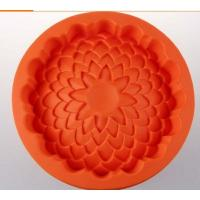 Wholesale round shape silicone cake pans ,silicone baking  pans , flower shape silicone pizza  pan from china suppliers