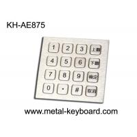 Quality Ruggedized 16 Keys Stainless Steel Keypad Numeric with Top panel mounting for sale