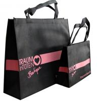 Wholesale Black Non Woven Carry Bag Pink Printing from china suppliers