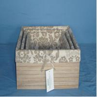 Wholesale Manufactory wood  Fabric Storage Box, Storage Organizer from china suppliers