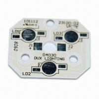 Quality Aluminum Base PCB with HAL and White Solder Mask, Suitable for LED Products for sale