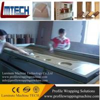 Wholesale PVC carved door panels vacuum membrane press machine with CE from china suppliers