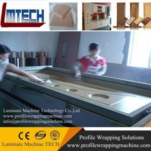 Quality kitchen cabinet laminated pvc mdf door vacuum membrane press machine for sale