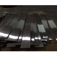 Wholesale modern designed Stainless steel hairline finish flat bar in titanium color for wall panels trimmings from china suppliers