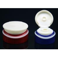Wholesale Blue , Red oval colored flip cosmetic bottle caps for PET / PE bottles from china suppliers