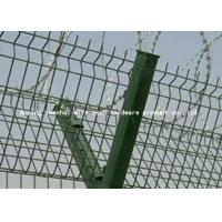 Wholesale Airport Protective Metal Security Fencing , Galvanized Welded Wire Mesh Rolls from china suppliers