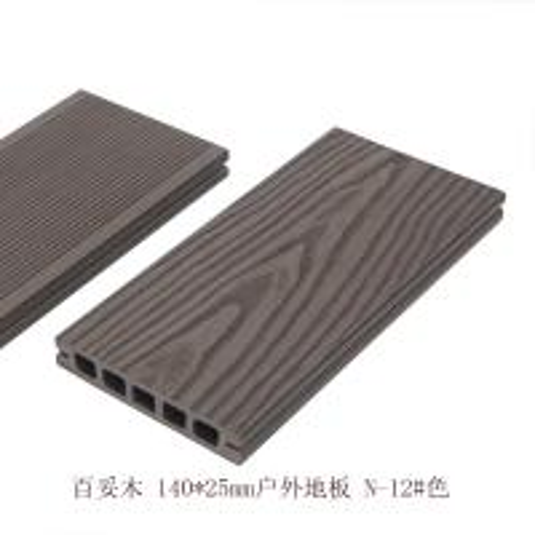Wood grain black pvc pe composite deck boards for Plastic decking boards