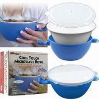 Wholesale Cool Touch Microwave Bowl with Unique Handle, Available in Capacity of 24oz from china suppliers