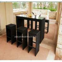 Wholesale High Top PE Wicker Pub Style Table And Chairs Set For Home / Bar from china suppliers