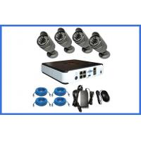 Wholesale 4PCS Waterproof 1.0 / 2.0MP IP POE Bullet HD CCTV Camera Kits For Home / Shop from china suppliers