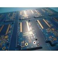 Buy cheap Matt Blue Solder Mask Double Sided PCB prototypes , pcb fabrication service from wholesalers