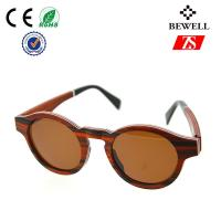 Wholesale Circle Frame Wooden Sunglasses For Men , Custom Bamboo Sunglasses from china suppliers