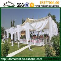 Wholesale 20 X 60m Economic Durable Nigeria White Wedding Tent With Glass Wall from china suppliers