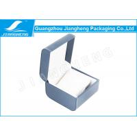 Wholesale PU Leather Circular Bead Watch Gift Boxes Blue Color With Velvet Pillow from china suppliers