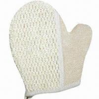 Wholesale Bath gloves, made of sisal, measures 18 x 20cm from china suppliers