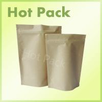 Wholesale Custom Printed Brown Kraft Paper Bags With Zipper Foil Lined For Food from china suppliers