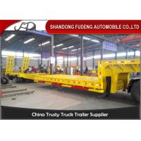Wholesale 3 Axles Warranty Extendable Lowboy Trailer High Strength Steel Material from china suppliers