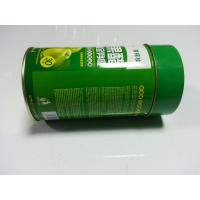 Quality Metal Tin Food Packaging Container Green Round With Lid / Cover for sale