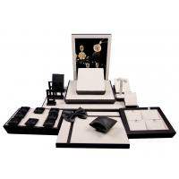 Wholesale High Glossy Black Wooden Window Jewelry Display Set Jewellery Display Stand from china suppliers