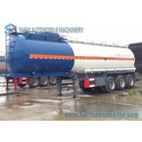 Wholesale Tri-axle Oil Tank Trailer 35000L Ammonia water Chemical Tank trailer Q345 / Q235 from china suppliers