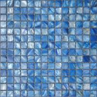 Wholesale Dark Blue Eco-Friendly River Sea Shell Mosaic Tile For Bathroom Wall from china suppliers