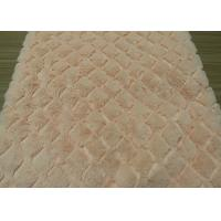 Wholesale 413gsm Weight Pink Dyeing Plush Material Fabric For Home / Hotel from china suppliers