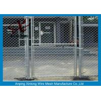 Wholesale Diamond Hole Chain Link Wire Fence , Galvanized Steel Wire Mesh For Sports Ground Barrier from china suppliers