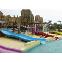 Wholesale Downhill  Open Fiberglass Kid Water Slides for Amusement Park Rides from china suppliers
