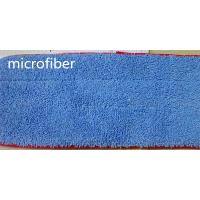 Wholesale 13 * 47 Microfiber Dust Mop Blue Twisting Fabric Red Stitched Floor Cleaning from china suppliers