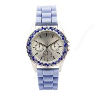 Wholesale 1ATMPC32 Customized Movement Silicone Wristband Watch With Blue Stone from china suppliers